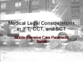 MICP - Medico-legal aspects fo CCT,...