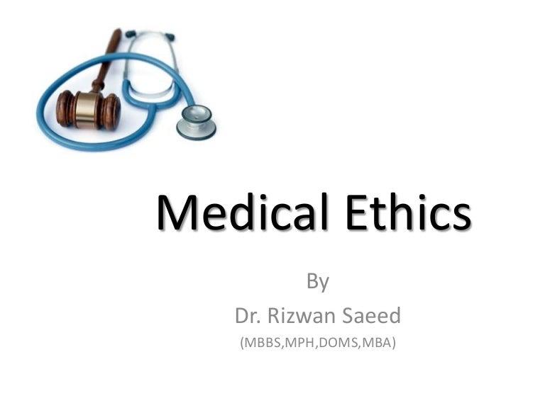 Medical ethics question!?