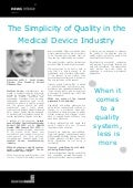 The Simplicity of Quality in the Medical Device Industry - J. Scott House, Division Vice President, Abbott Diabetes Care