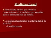 Medicina legal y Tanatología