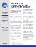 2016 Report: Medicines in Development for Alzheimer's Disease