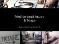 Medico-Legal Issues at Triage