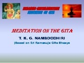 Meditation on the gita