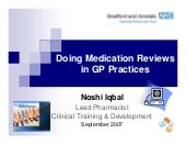 Med reviews in gp practices2007