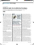 SimpliFlying Featured - Airlines look to mobile technology