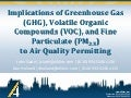 Implications of Greenhouse Gas (GHG), Volatile Organic Compounds (VOC), and Fine Particulate (PM2.5)