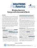 Meeting America's Energy and Environmental Needs