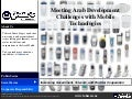 Meeting Arab Development Challenges With Mobile Technologies