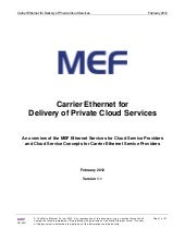 Mef Carrier Ethernet For Delivery O...