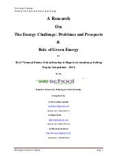 A Research On The Energy Challenge:...