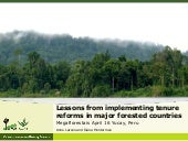 Lessons from implementing tenure reforms in major forested countries