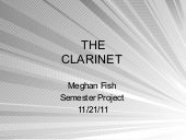Meghan Fish music semester project ppt