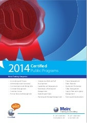 Meirc 2014 Certified Programs