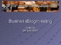Meisje van de Slijterij over Business blogs