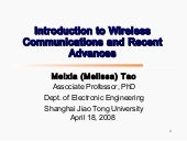 Meixia Tao Introduction To Wireless...