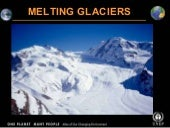 Melting glaciers