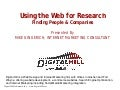 Search Tips for the Web