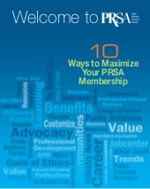 Welcome to PRSA: 10 Ways to Maximiz...