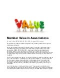 Member Value in Associations