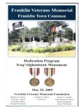 Franklin Veterans Memorial - Dedication Program