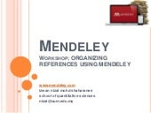 Mendeley Training