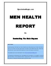 Men Health Report: Controlling The ...