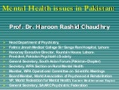Mental health issues in pakistan  (...