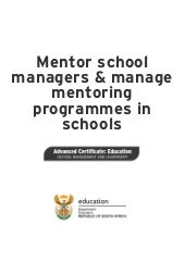 Mentor school managers and manage m...