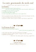 Menu gourmand du weekend du 16 au 18 novembre 2012