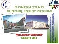 Municipal Energy Program Procurement Workshop