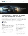 Mercedes-Benz Case Study: Getting more mileage from shareable content with LinkedIn Sponsored Updates