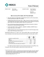 Q1 2012 Merck & Co., Inc. Earnings ...