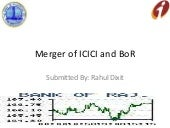Merger of icici and boR