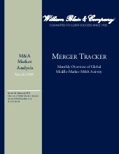 Merger Tracker Monthly March2009.2