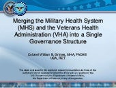 Merging the Military Health System ...