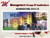 Meri Group Of Institutions, Admissi...