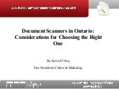 Document Scanners in Ontario:  Cons...