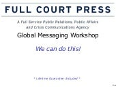 Messaging and media training worksh...