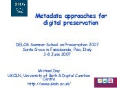Metadata approaches for digital pre...