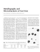 Metallography of cast iron