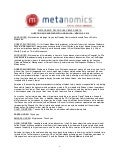 Metanomics Transcript Mar  3 2010