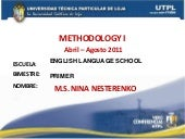 METHODOLOGY I ( I Bimestre Abril Ag...