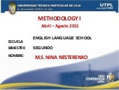METHODOLOGY I (II Bimestre Abril Ag...
