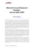 Methodology - District Gross Domestic Product