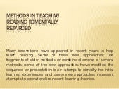 Methods in teaching thursday report