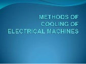 Methods Of Cooling Of Electrical Machines