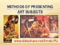 Methods of presenting art