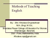 Methods of teaching english