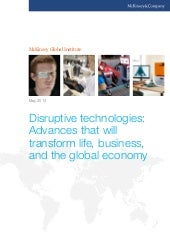 Disruptive technologies: Advances t...