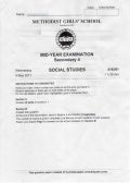 MGS Social Studies Mid-Year Exam Paper